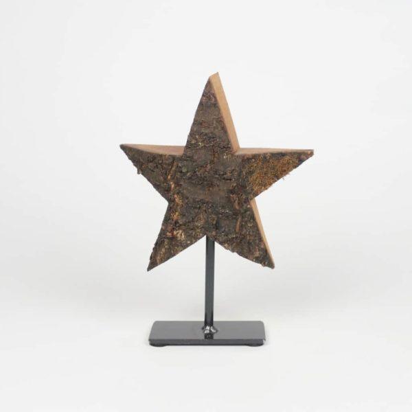 Stern auf Metallfuss - Holzdekoration